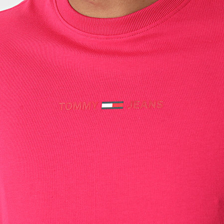Tommy Jeans - Tee Shirt Gel Linear Logo 0702 Rose Fuchsia