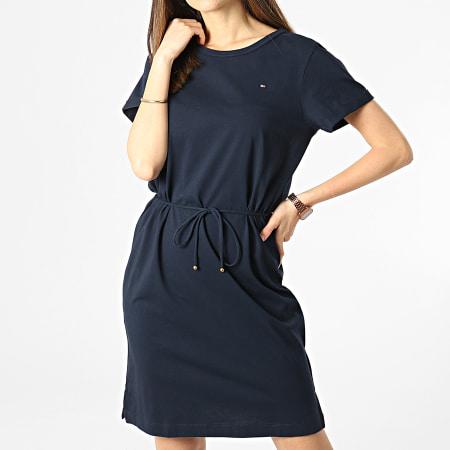 Tommy Hilfiger - Robe Tee Shirt Femme Cool Shift 7812 Bleu Marine