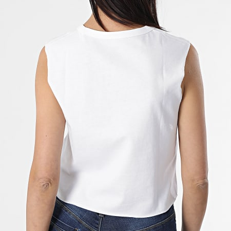 Vans - Débardeur Crop Femme Muscle Crop Blanc