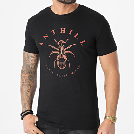 Anthill - Tee Shirt Logo Noir Rouge