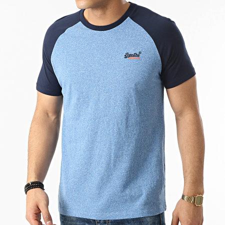 Superdry - Tee Shirt OL Baseball M1010864 Bleu Chiné