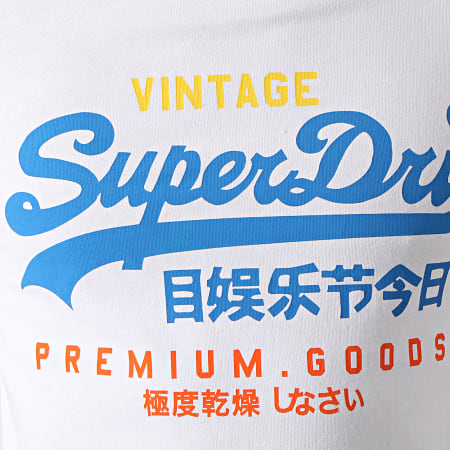 Superdry - Tee Shirt VL Tri M1011003A Blanc