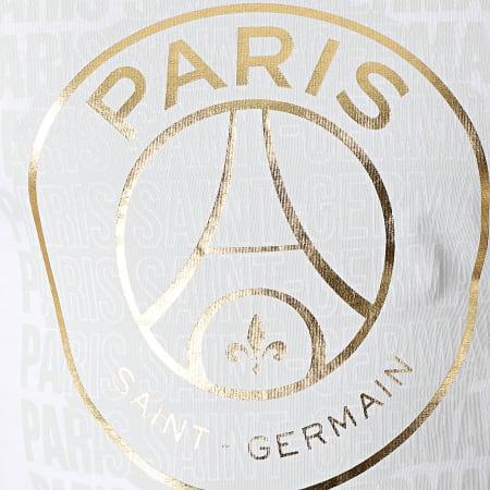 PSG - Tee Shirt Big Logo P13982 Blanc Doré