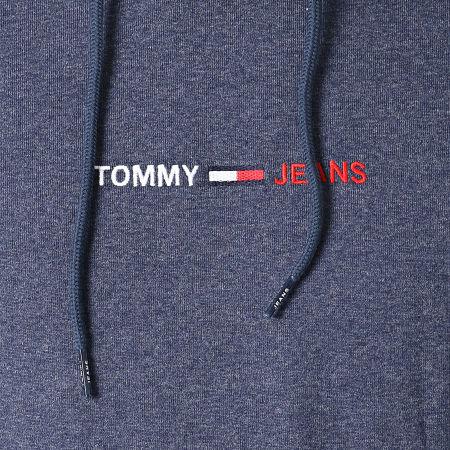 Tommy Jeans - Sweat Capuche Straight Logo 0190 Bleu Marine Chiné
