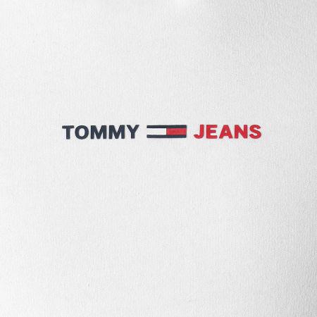 Tommy Hilfiger - Sweat Capuche Tricolore Half And Half 0195 Blanc Bleu Marine Rouge Chiné