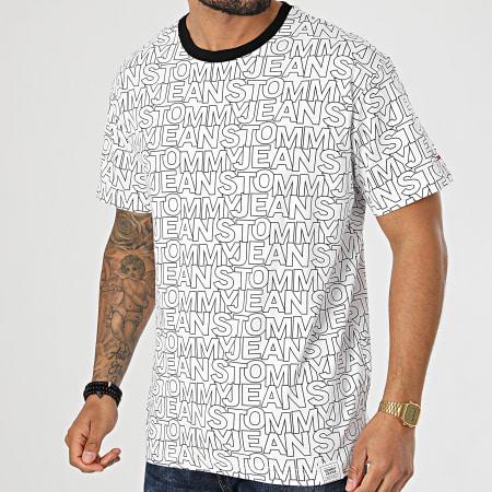 Tommy Jeans - Tee Shirt AOP 0272 Blanc Noir
