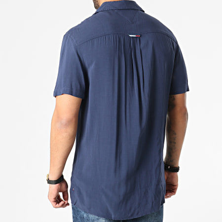 Tommy Jeans - Chemise Manches Courtes Solid Camp 0645 Bleu Marine