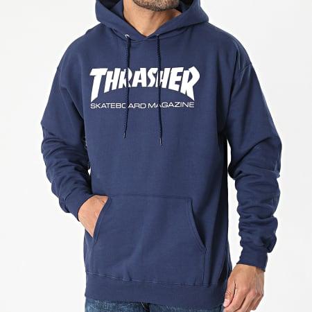 Thrasher - Sweat Capuche THRSW011 Bleu Marine