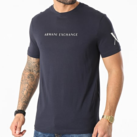 Armani Exchange - Tee Shirt 3KZTGQ-ZJH4Z Bleu Marine