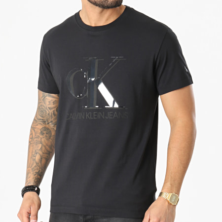 Calvin Klein Jeans - Tee Shirt CK Monogram Waterbase 7508 Noir