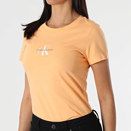 Calvin Klein Jeans - Tee Shirt Femme Monogram Classic 6577 Orange