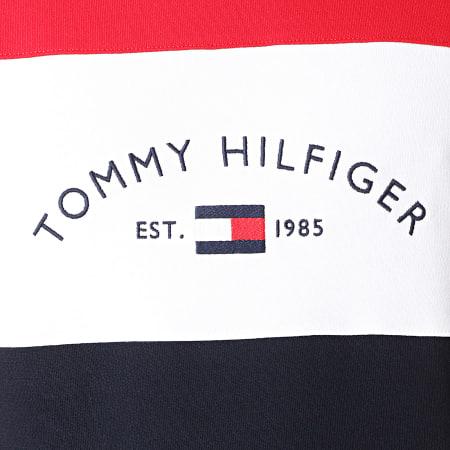Tommy Hilfiger - Sweat Crewneck Embroidered Signature 8300 Bleu Marine Blanc Rouge
