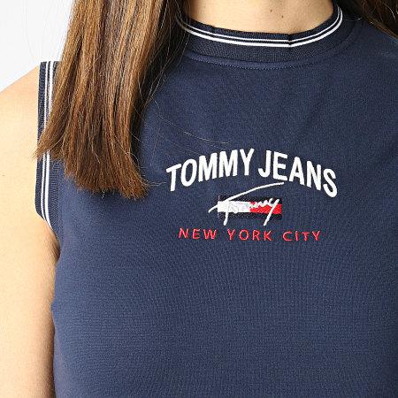 Tommy Jeans - Robe Femme Timeless Script 9936 Bleu Marine