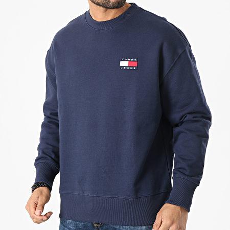 Tommy Jeans - Sweat Crewneck Tommy Badge 6592 Bleu Marine
