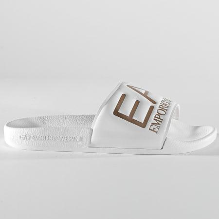 EA7 - Claquettes XCP001-XCC22 Shiny White Rose Gold