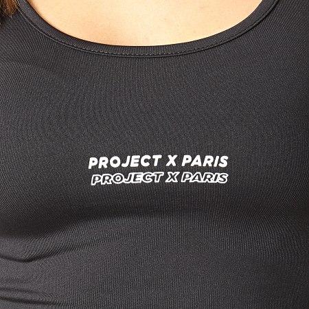 Project X - Débardeur Crop Femme F211077 Noir