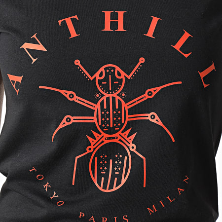 Anthill - Tee Shirt Femme Logo Noir Rouge
