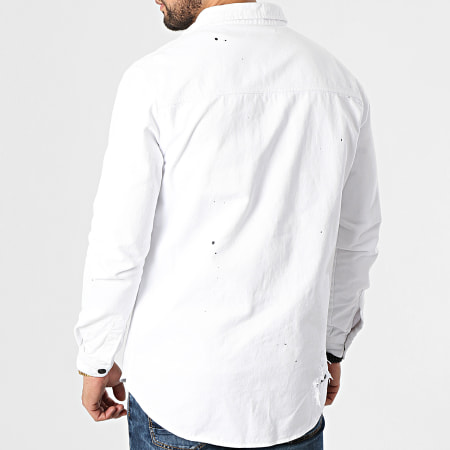 Black Needle - Veste Jean 3330 Blanc