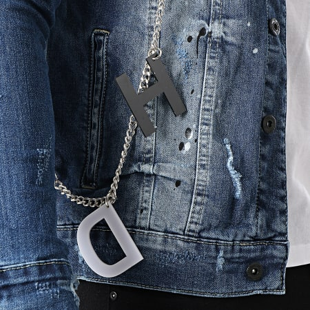 Black Needle - Veste Jean 3386 Bleu Denim