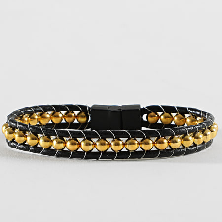 Black Needle - Bracelet BBN-423 Noir Doré