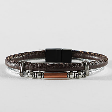 Black Needle - Bracelet BBN-427 Marron