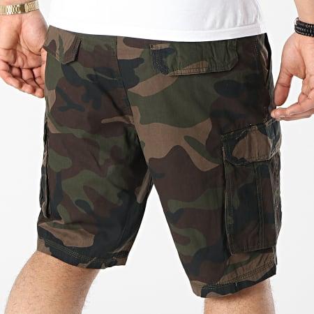 Brave Soul - Short Cargo Camouflage River Marron Vert Kaki