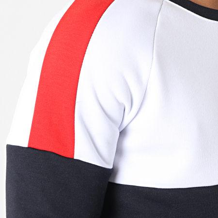 Brave Soul - Sweat Crewneck Tricolore Roosevelt Bleu Marine Blanc Rouge