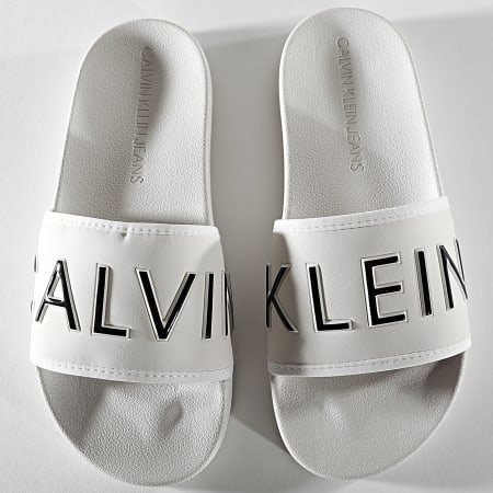 Calvin Klein Jeans - Claquettes Femme Slide Padded 0131 Beige