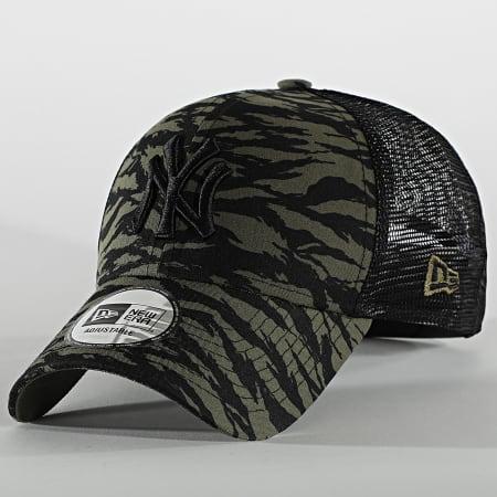 New Era - Casquette Trucker 9Forty Tiger Print 60081345 New York Yankees Vert Kaki Noir
