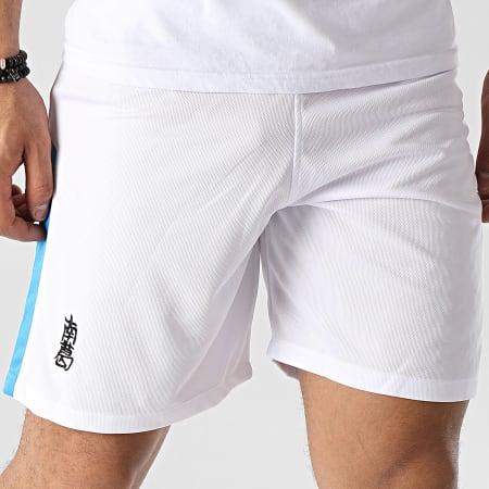 Okawa Sport - Short De Sport A Bandes Newpie Blanc
