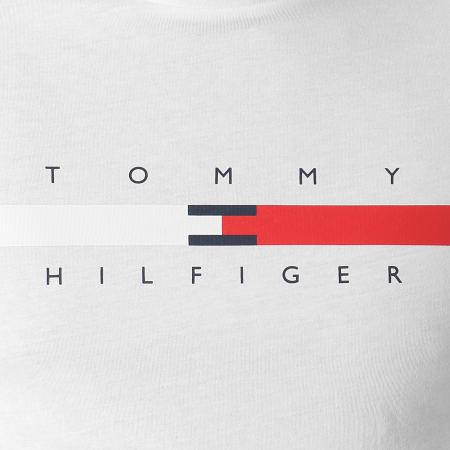 Tommy Hilfiger - Tee Shirt Global Stripe Chest 6572 Blanc