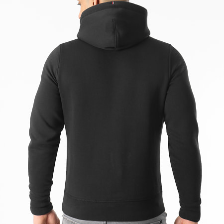 Tommy Hilfiger - Sweat Capuche Stacked Tommy Flag 7397 Noir