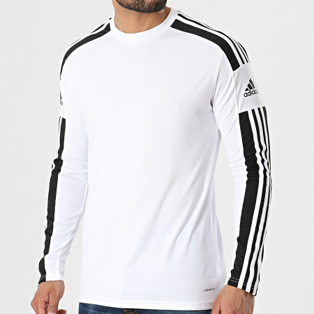 adidas - Tee Shirt Manches Longues A Bandes Squad 21 GN5793 Blanc