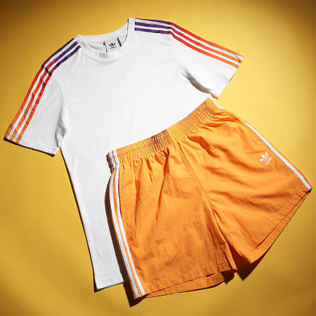 adidas - Short De Bain A Bandes GN3525 Orange