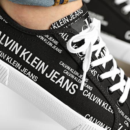 Calvin Klein Jeans - Baskets Vulcanized Sneaker Laceup AOP 0077 Black