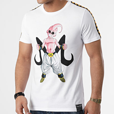 Dragon Ball Z - Tee Shirt A Bandes Majin Buu Front Blanc