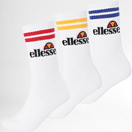 Ellesse - Lot De 3 Paires De Chaussettes Blanc