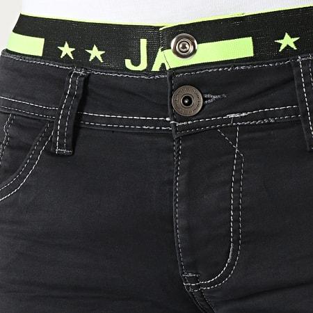 Mackten - Short Jean Slim JS589 Noir