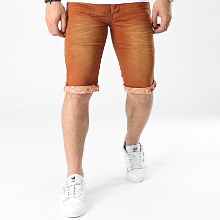 Mackten - Short Jean Slim JS577 Marron
