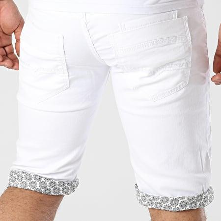 Mackten - Short Jean Slim JS413 Blanc