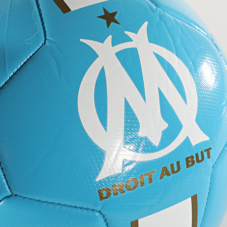OM - Ballon De Foot OM Logo M20060 Bleu Clair