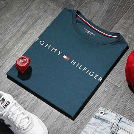 Tommy Hilfiger - Tee Shirt CN Logo 1434 Bleu Petrole