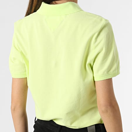 Tommy Jeans - Polo Manches Courtes Femme 9199 Vert Anis