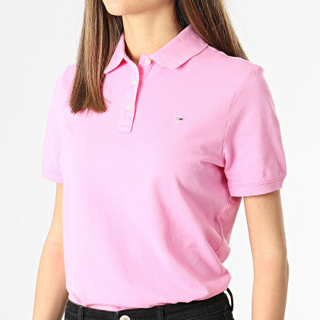 Tommy Jeans - Polo Manches Courtes Femme 9199 Rose