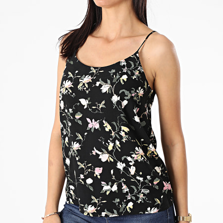 Vero Moda - Débardeur Femme Simply Easy Noir Floral