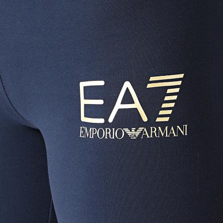 EA7 Emporio Armani - Legging Femme 3KTP65-TJ01Z Bleu Marine Doré