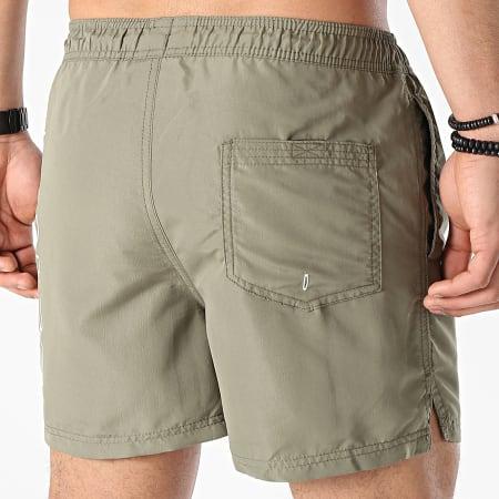 Jack And Jones - Short De Bain Bali Logo Vert Kaki