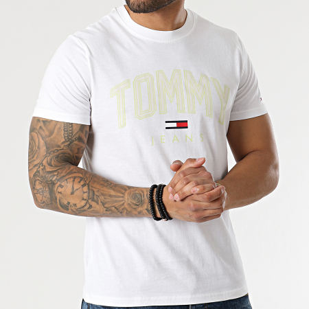 Tommy Jeans - Tee Shirt Shadow Tommy Print 0226 Ecru