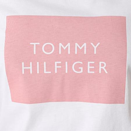Tommy Hilfiger - Tee Shirt Femme Regular Tommy Box 0658 Blanc