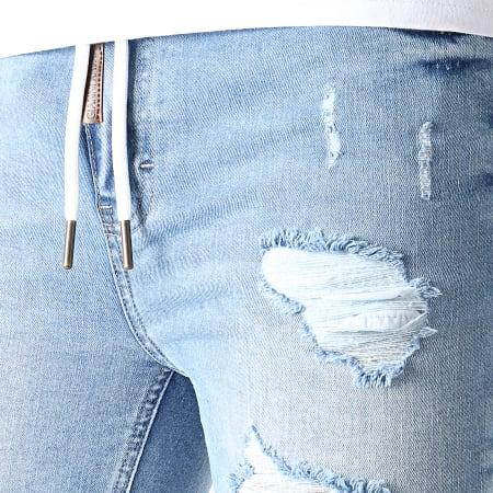 Gianni Kavanagh - Short Jogg Jean Skinny Ripped GKM001616 Bleu Denim